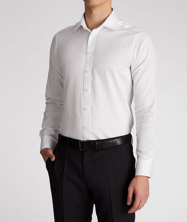 Slim-Fit Cotton Dress Shirt picture 2