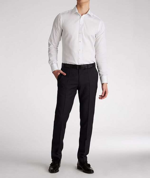 Slim-Fit Cotton Dress Shirt picture 5