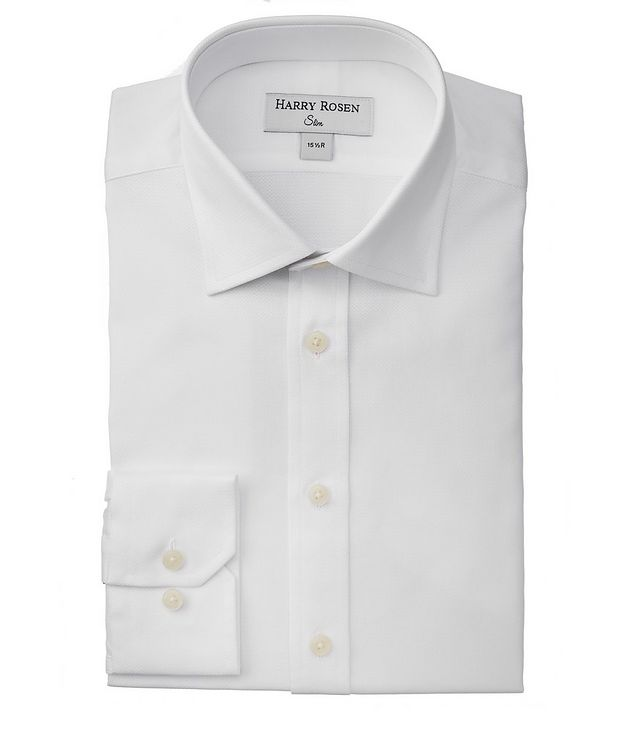 Chemise habillée en coton de coupe amincie picture 1