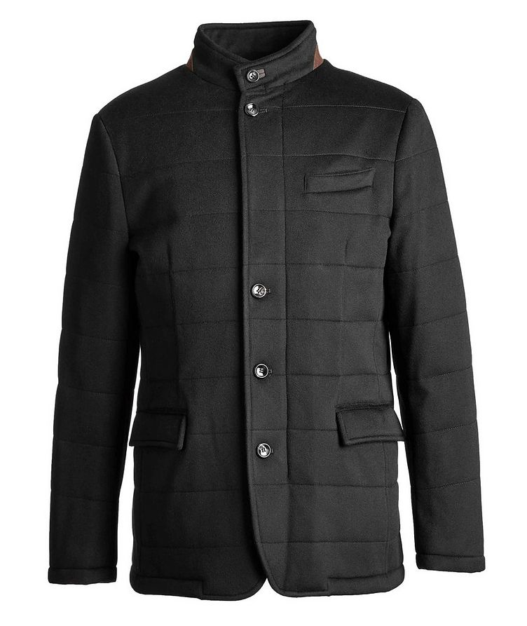 Quilted Green Storm System Coat image 0
