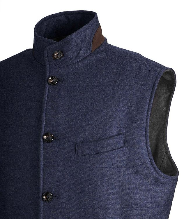 Torino Quilted Wool-Cashmere Vest picture 2