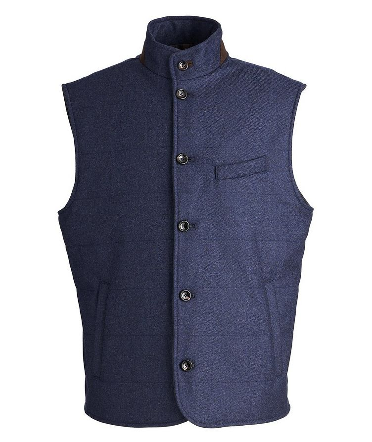 Torino Quilted Wool-Cashmere Vest image 0