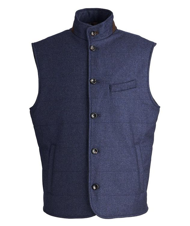 Torino Quilted Wool-Cashmere Vest picture 1