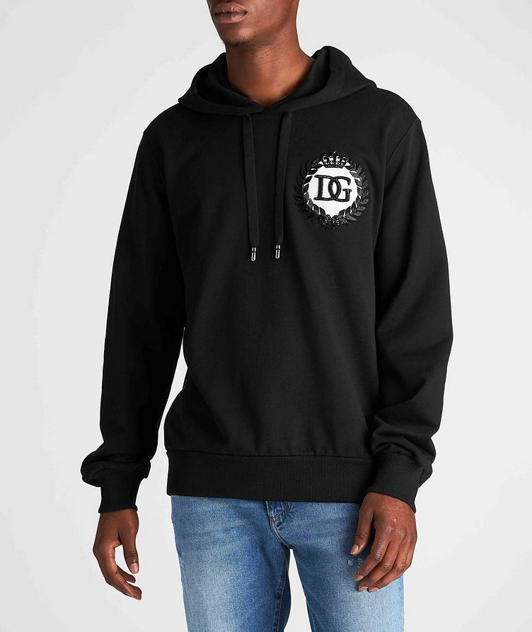 Beaded Cotton Hoodie image 1