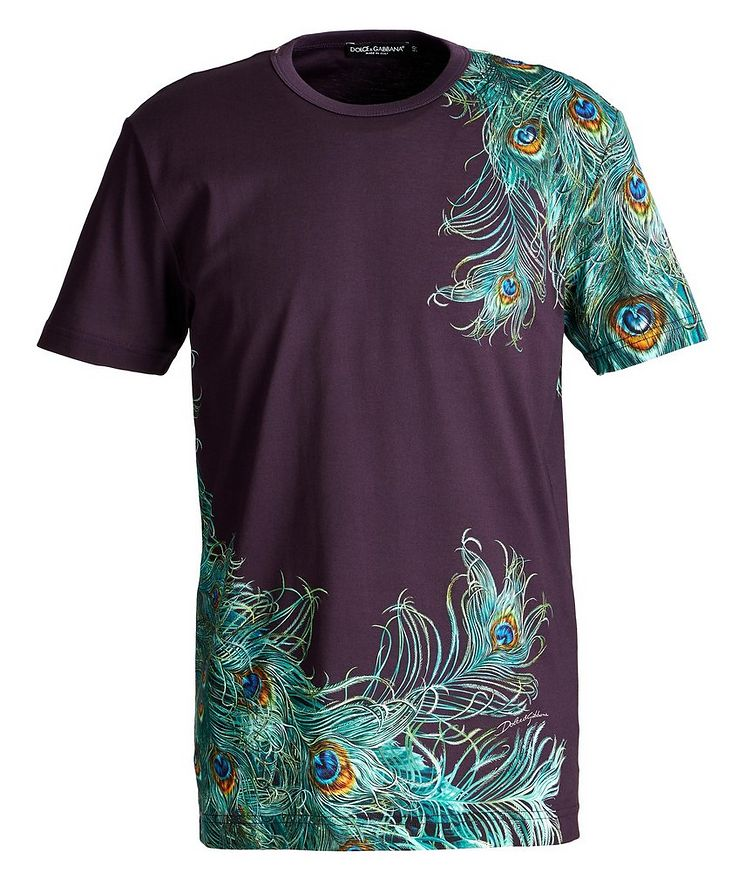 Peacock Cotton T-Shirt image 0