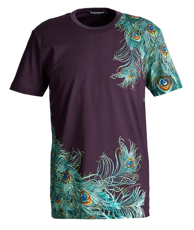 Peacock Cotton T-Shirt picture 1