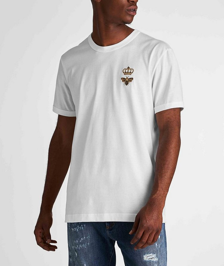 Embroidered Cotton T-Shirt image 1