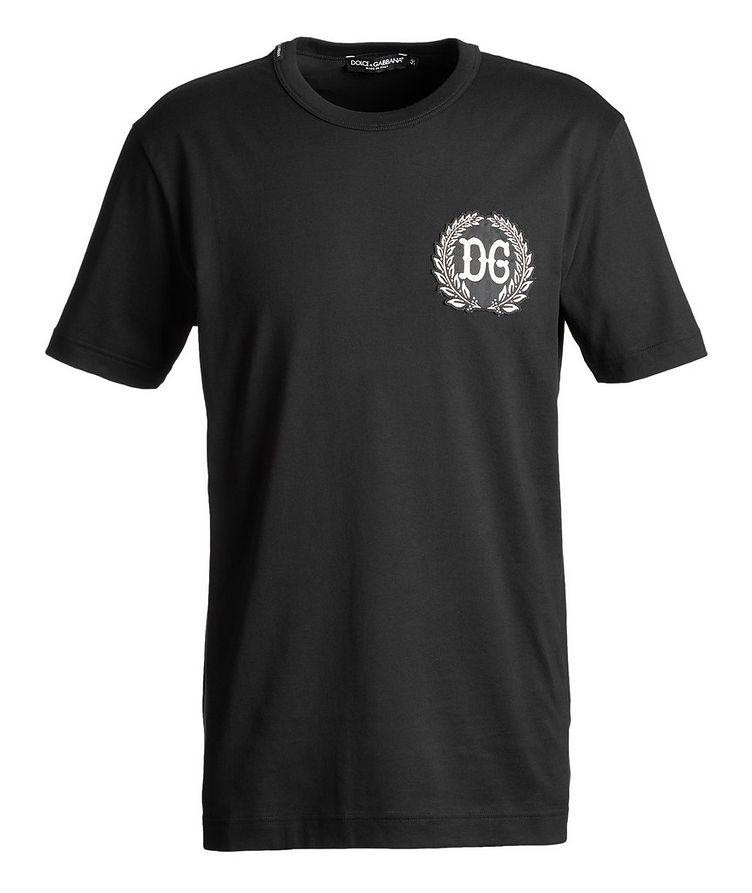 T-shirt brodé en coton image 0