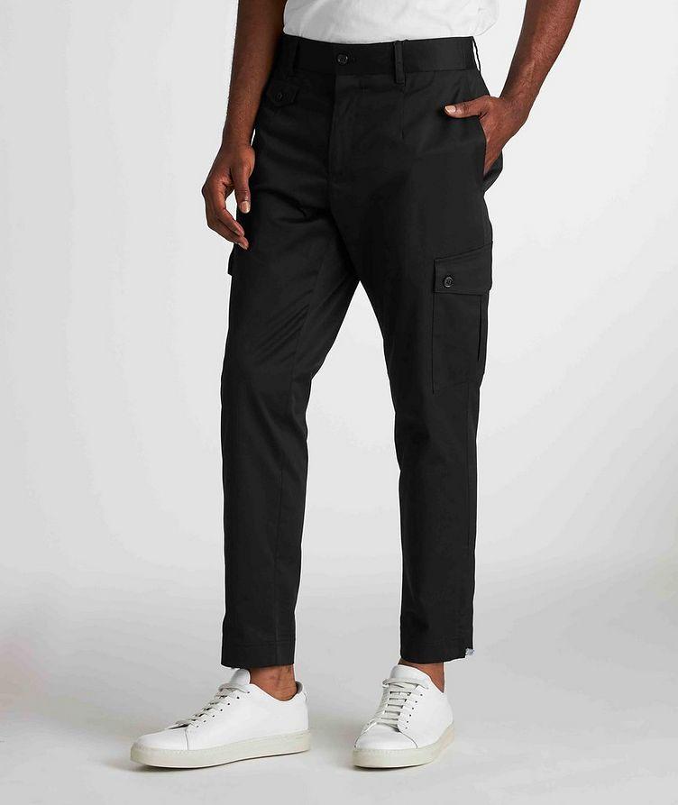 Pantalon en coton extensible à poches cargo image 1