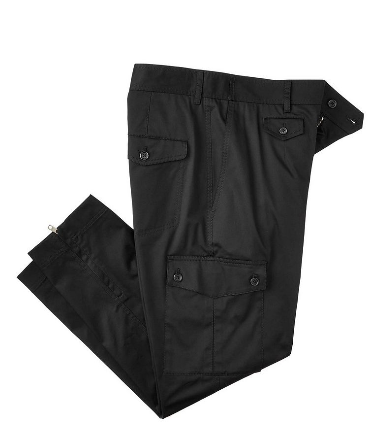 Pantalon en coton extensible à poches cargo image 0