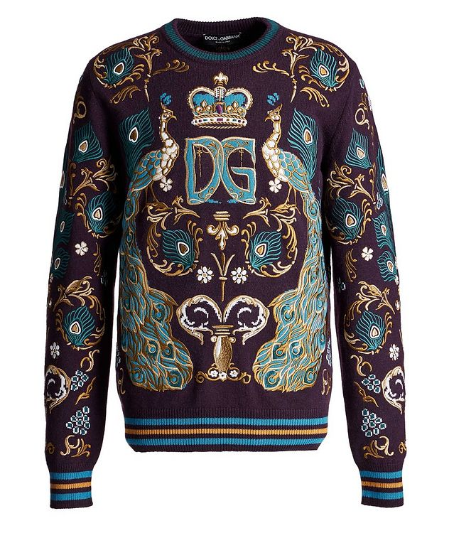 Embroidered Cashmere Sweater picture 1