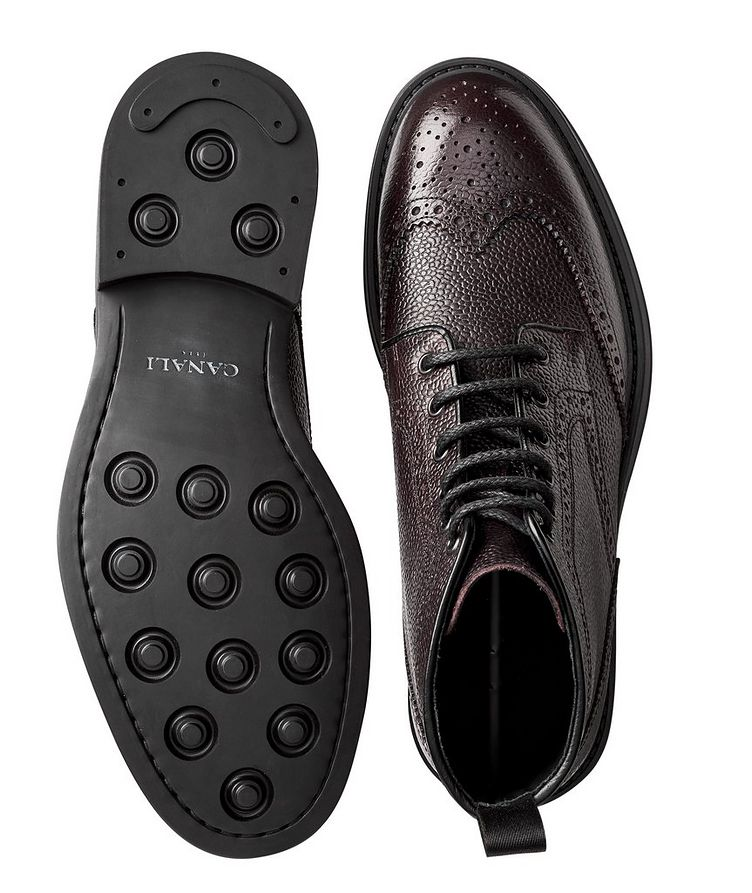 Leather Brogue Boots image 2