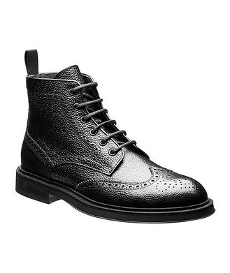 Canali Leather Brogue Boots