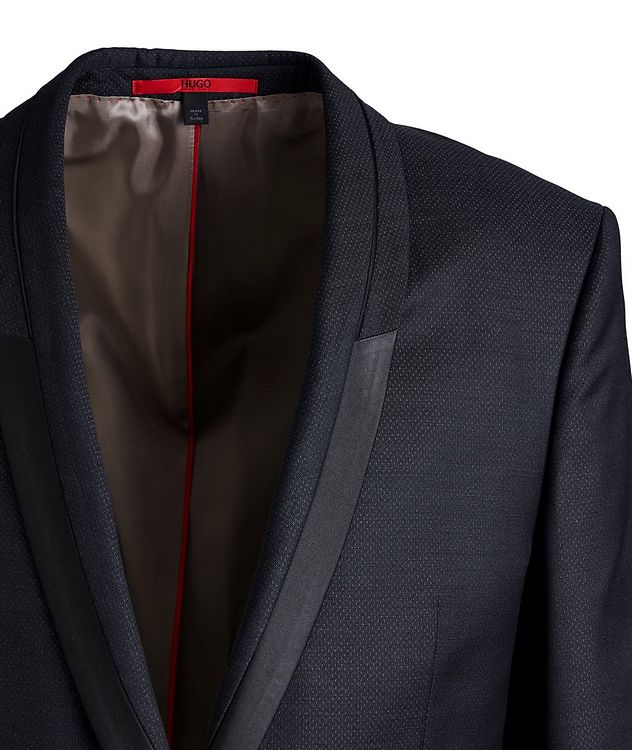 Slim-Fit Wool-Silk Tuxedo Jacket picture 2