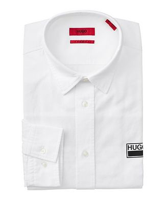 HUGO Text-Printed Cotton Shirt