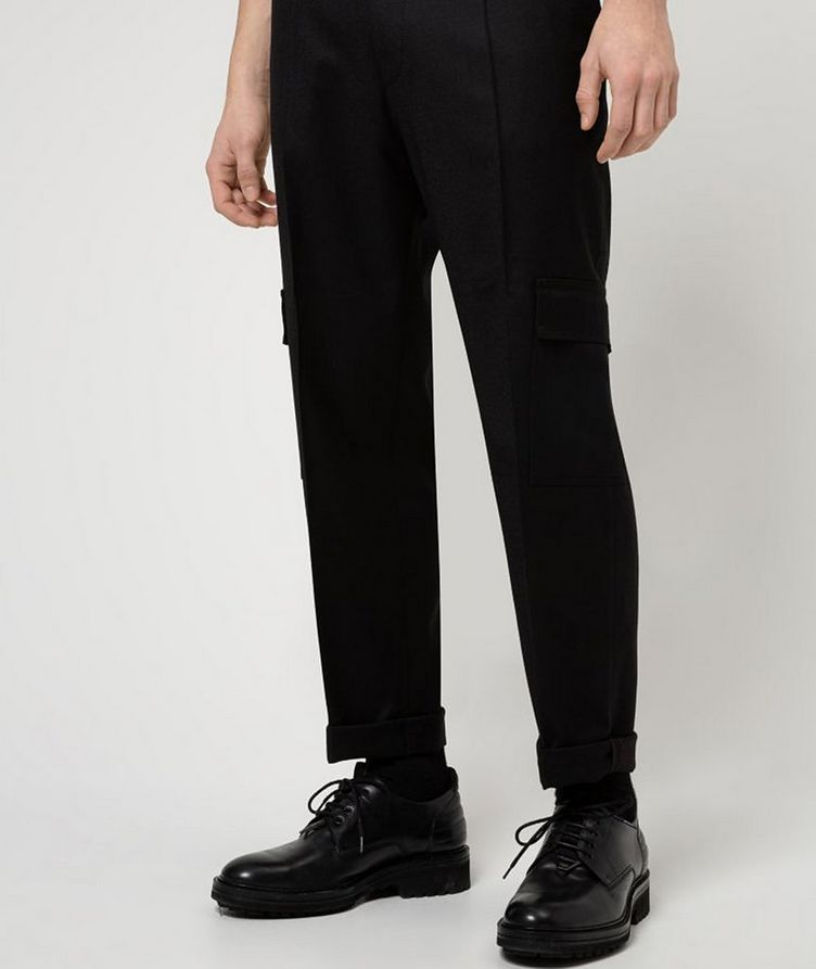 Contemporary-Fit Pleated Stretch-Wool Cargo Pants image 1