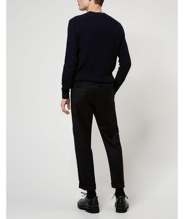 Contemporary-Fit Pleated Stretch-Wool Cargo Pants image 3