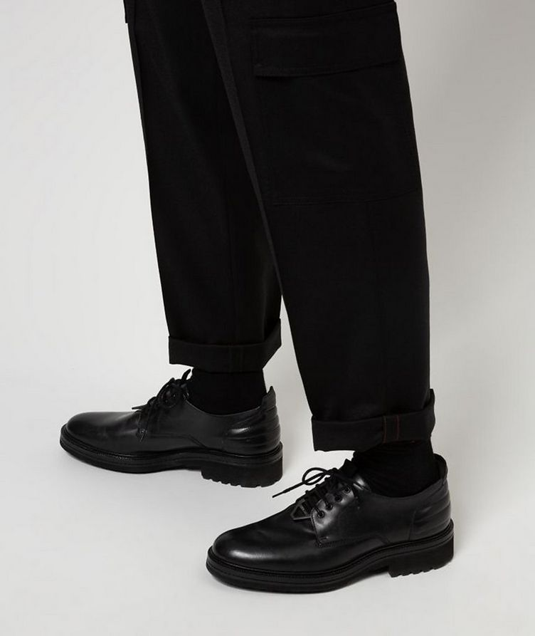 Contemporary-Fit Pleated Stretch-Wool Cargo Pants image 4
