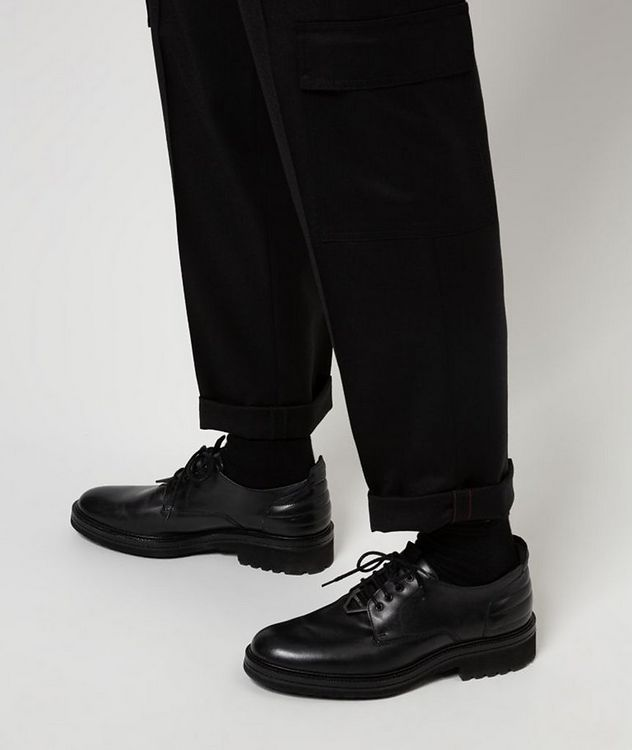 Contemporary-Fit Pleated Stretch-Wool Cargo Pants picture 5