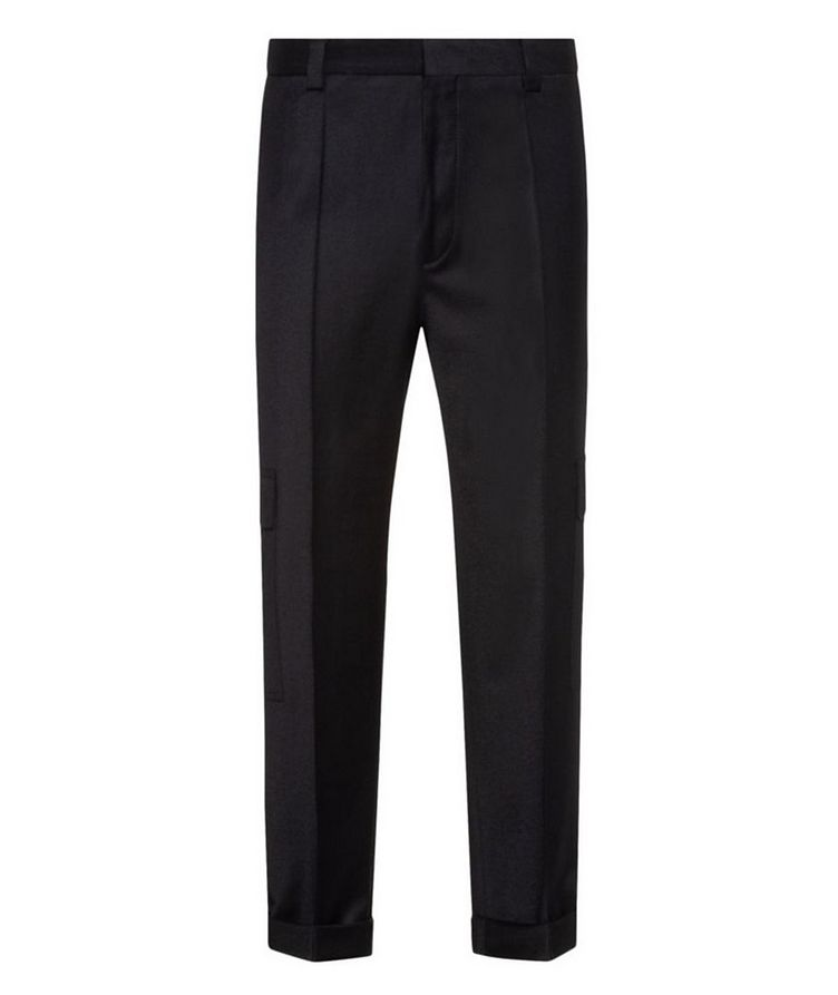 Contemporary-Fit Pleated Stretch-Wool Cargo Pants image 0