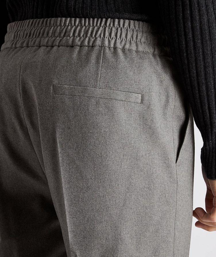 Drawstring Stretch-Wool Pants image 2