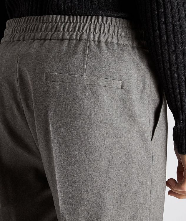 Drawstring Stretch-Wool Pants picture 3