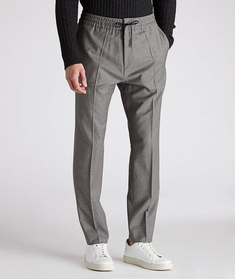 Drawstring Stretch-Wool Pants image 0