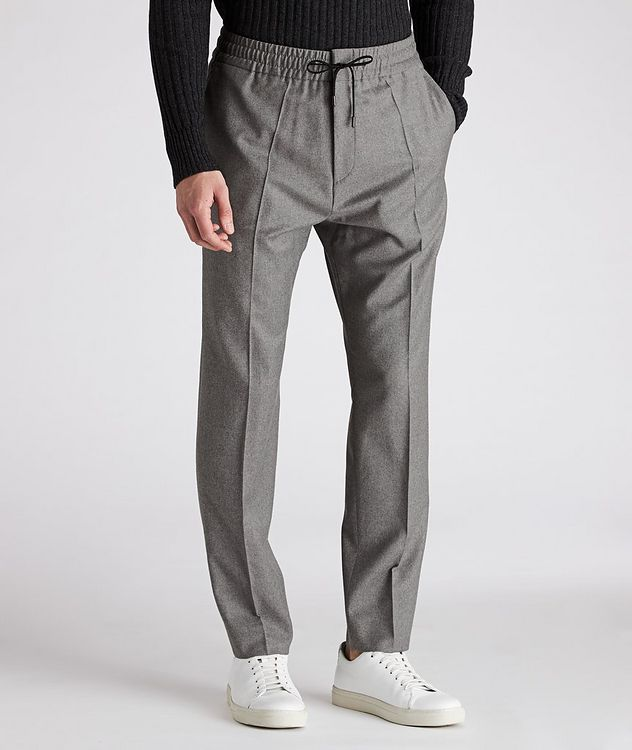 Drawstring Stretch-Wool Pants picture 1