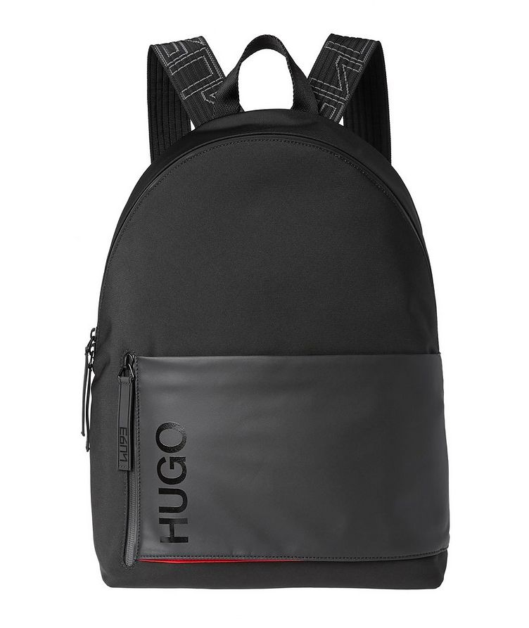 Structured Nylon Backpack image 0