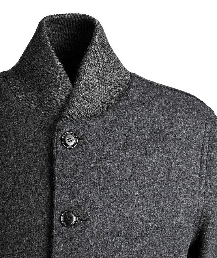 Boiled Wool Cardigan Jacket image 2