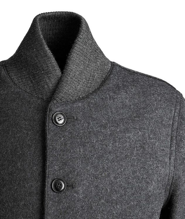 Boiled Wool Cardigan Jacket picture 3