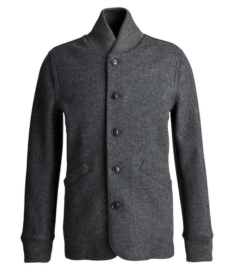 Boiled Wool Cardigan Jacket image 0