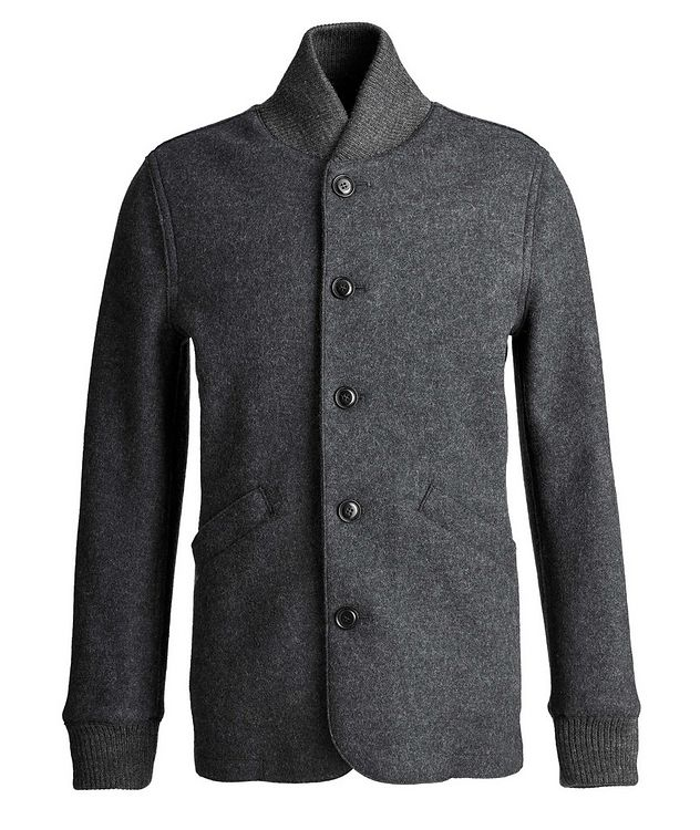 Boiled Wool Cardigan Jacket picture 1
