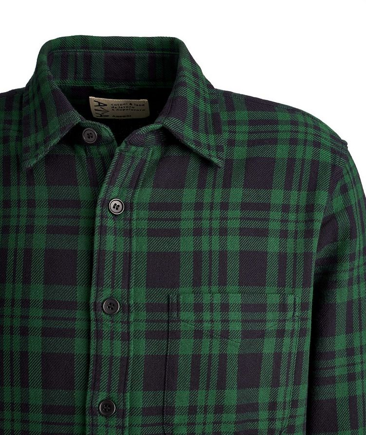Plaid Cotton Overshirt image 1