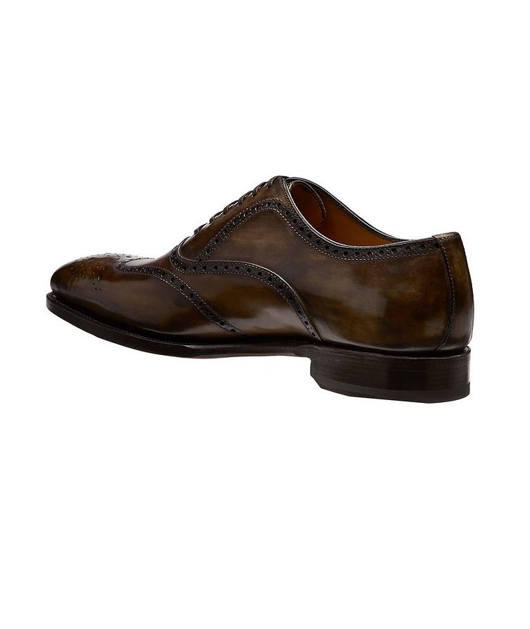 Embossed Cap-Toe Leather Oxfords image 1