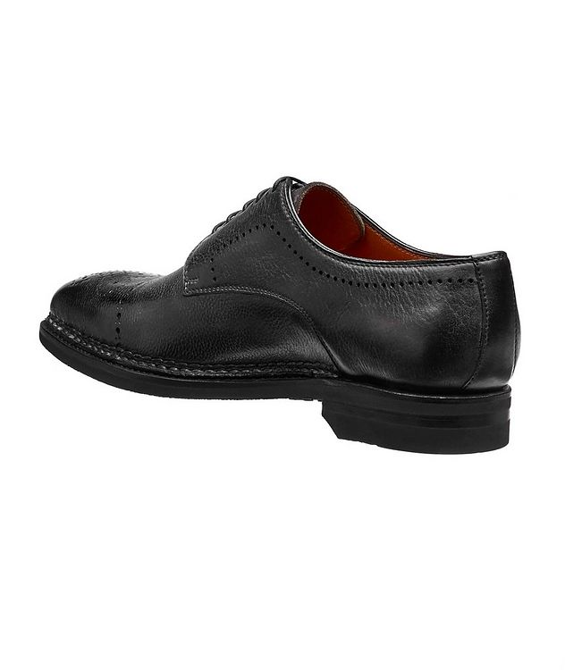 Embossed Cap-Toe Leather Oxfords picture 2