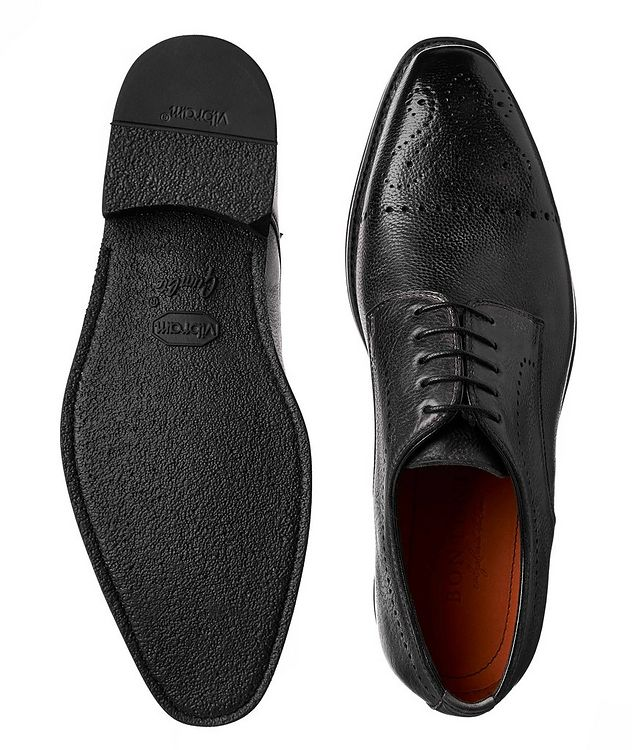 Embossed Cap-Toe Leather Oxfords picture 3