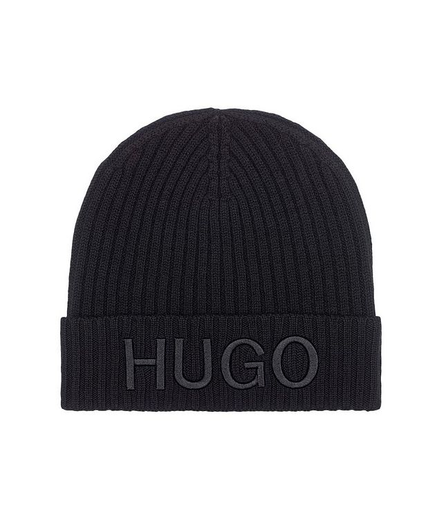 Virgin Wool Ribbed Knit Toque picture 1