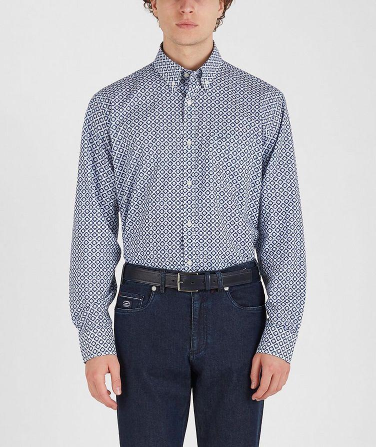 Chemise en coton à motif géométrique image 1
