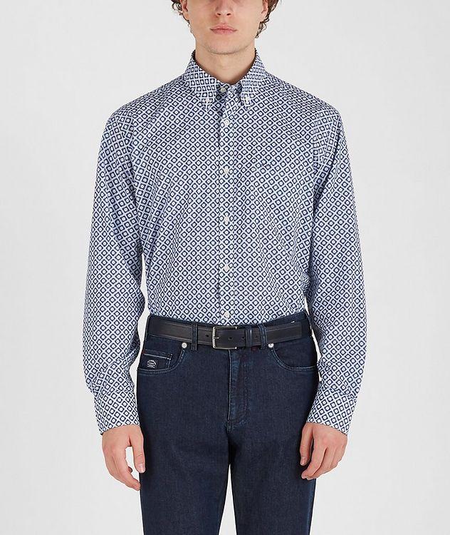 Chemise en coton à motif géométrique picture 2