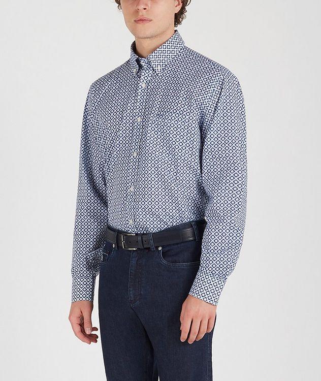 Chemise en coton à motif géométrique picture 3
