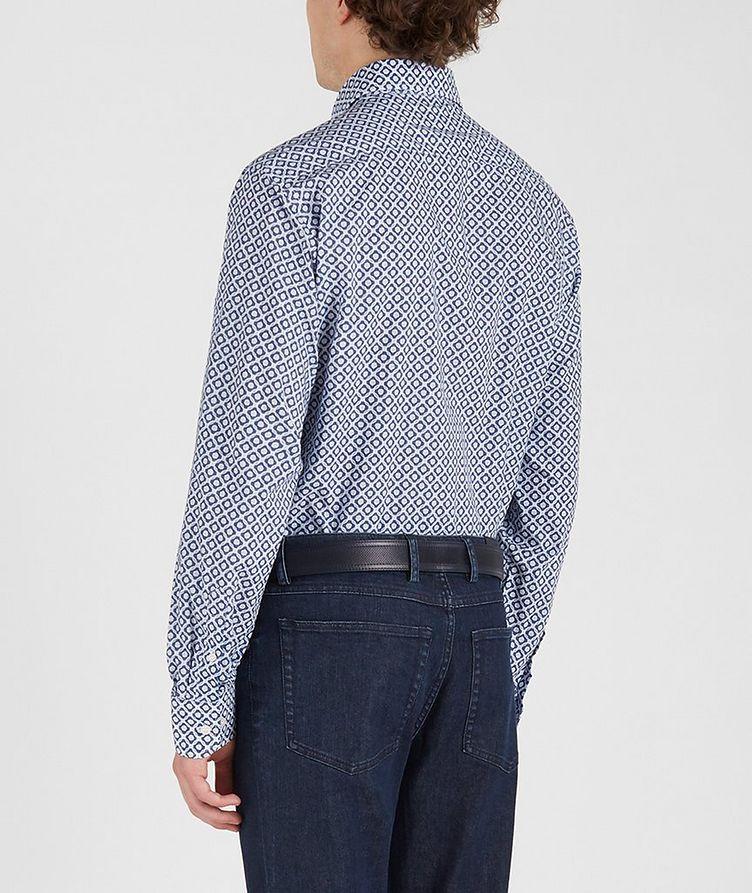 Chemise en coton à motif géométrique image 3