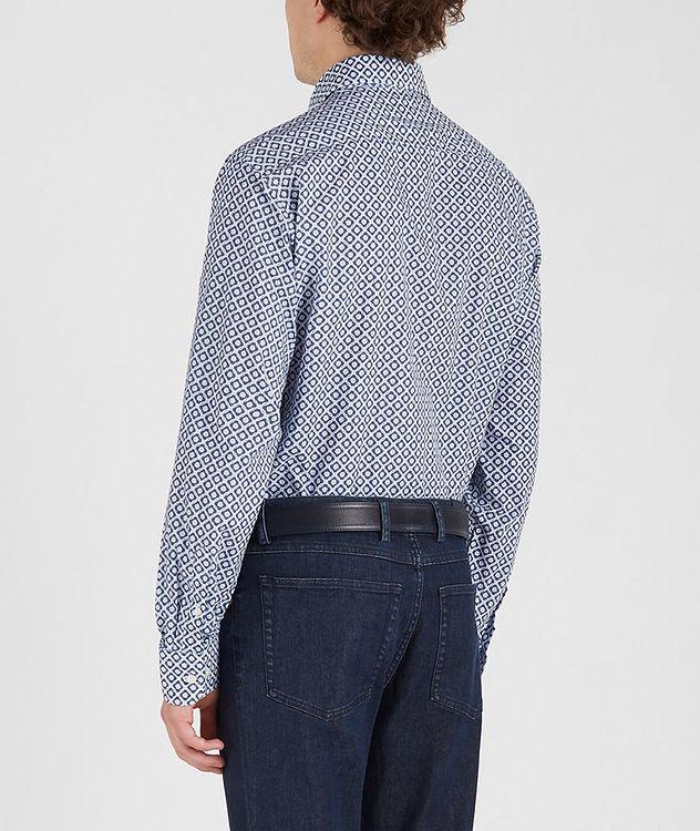 Chemise en coton à motif géométrique picture 4