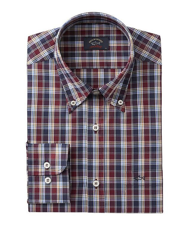 Long-Sleeve Checked Cotton Shirt picture 1