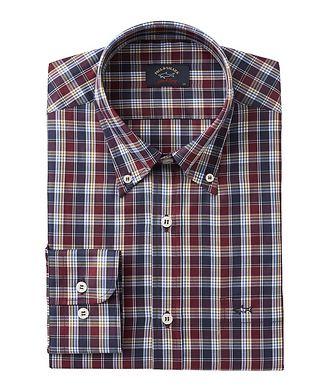 Paul & Shark Long-Sleeve Checked Cotton Shirt