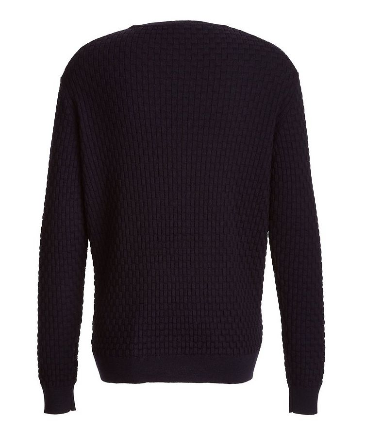 Basket-Weave Wool Sweater image 1