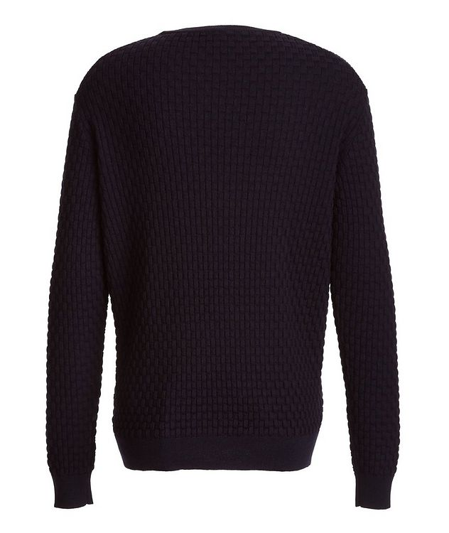 Basket-Weave Wool Sweater picture 2
