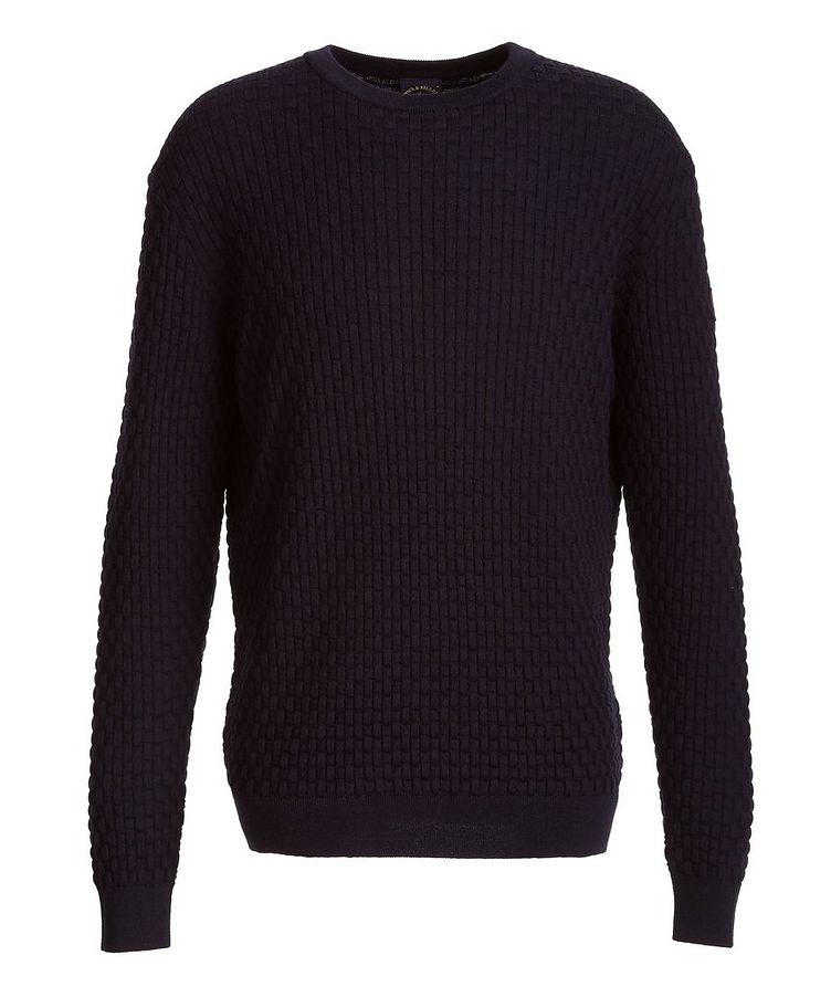 Basket-Weave Wool Sweater image 0