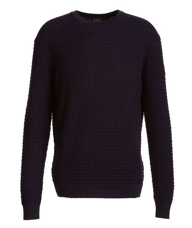Basket-Weave Wool Sweater picture 1
