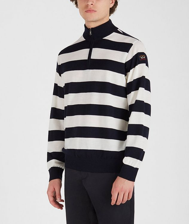 Half-Zip Striped Sweater picture 2